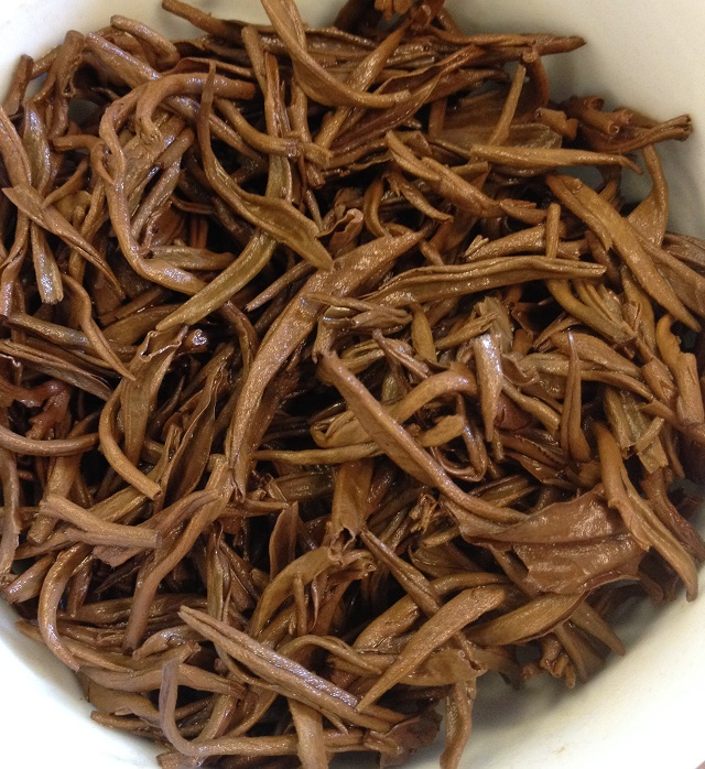 Keemun Mao Feng Black Tea Infused Leaves