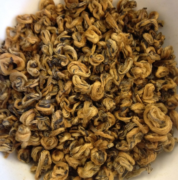 Supreme Yunnan Golden Snail Black Tea Dry Leaves
