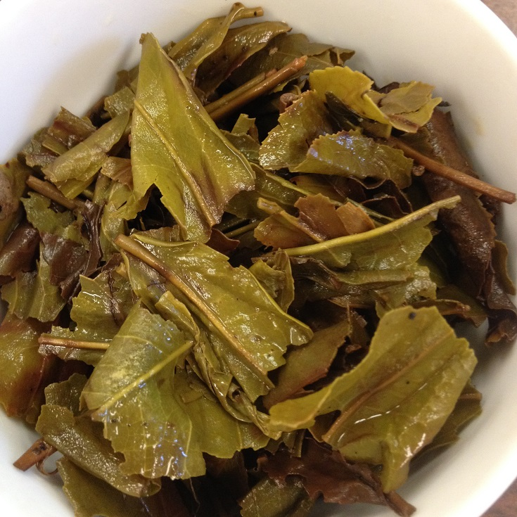 Ceylon OPA#2 Green Tea Infused Leaves