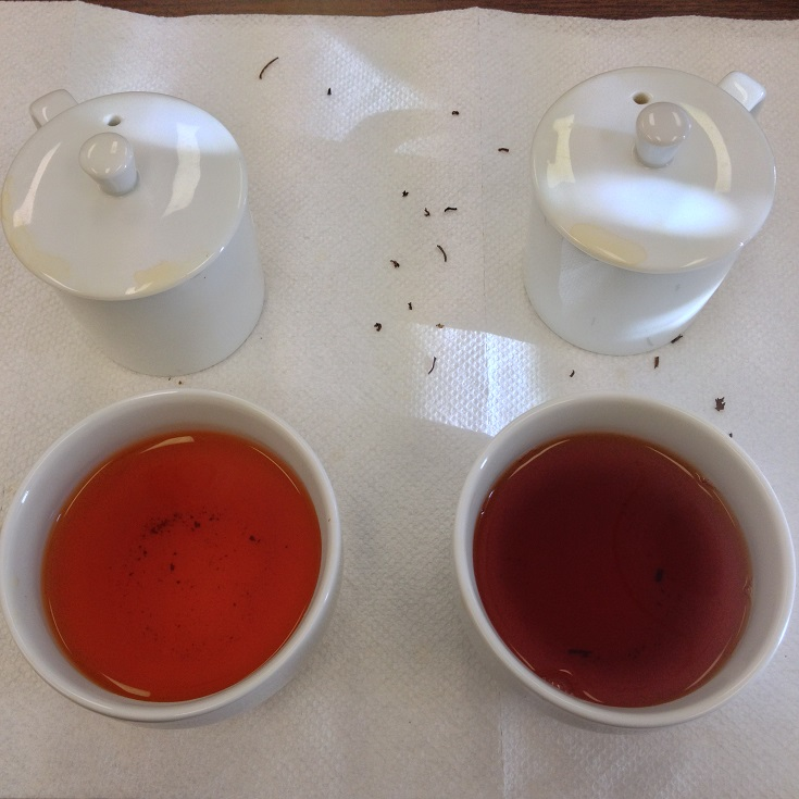Poabs OP1 (Left) and Anhui Tea Co Keemun Hao Ya A (Left) 2nd Infusion