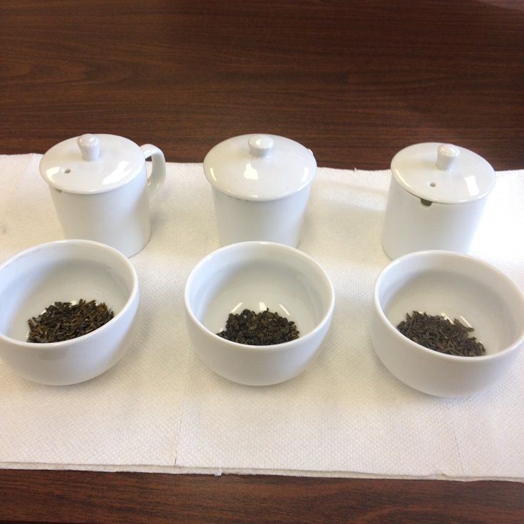 Chinese Green Tea Comparison Dry Leaves