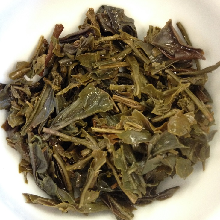 Steamed Purple Tea Infused Leaves