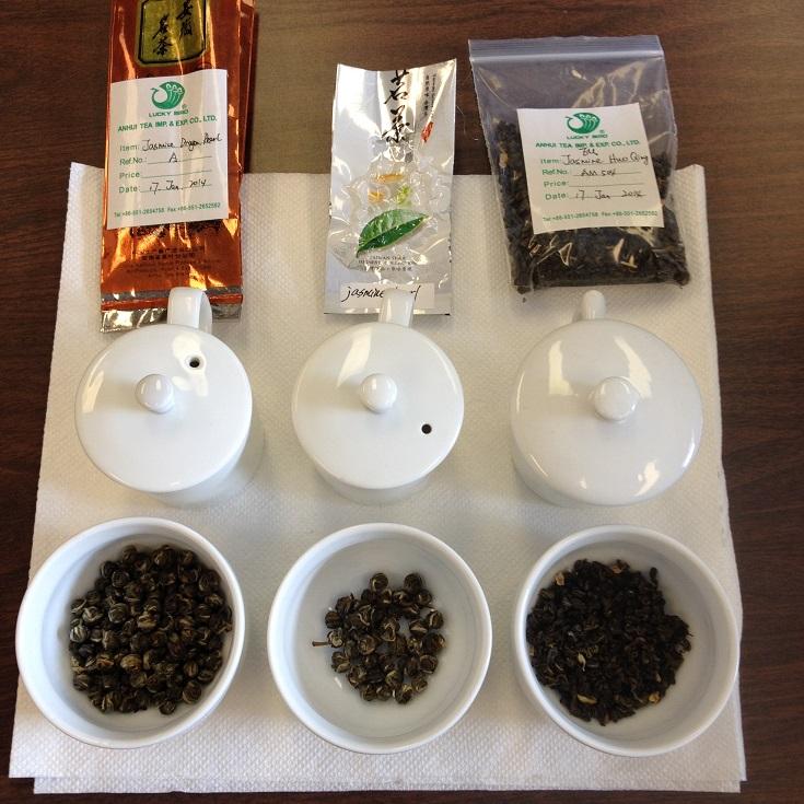 Jasmine Green Tea Dry Leaf Comparison