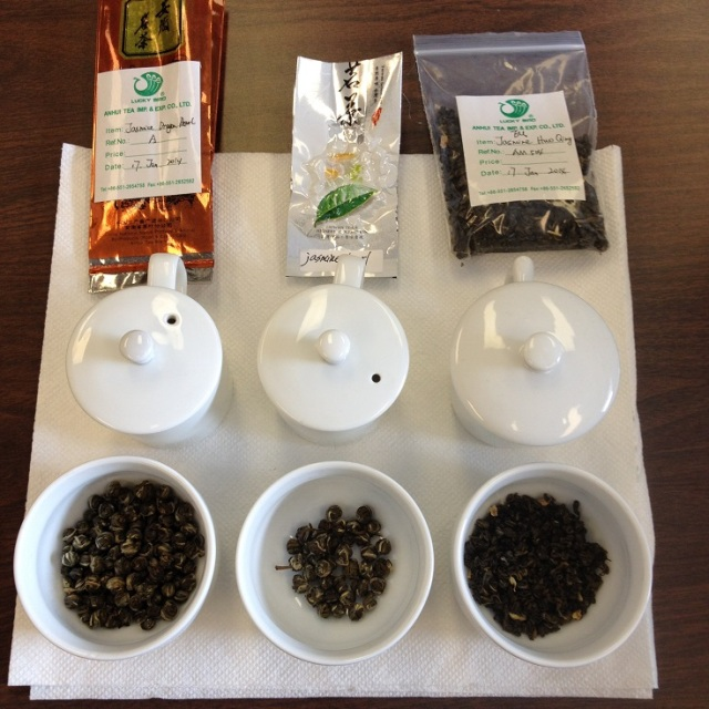 Jasmine Green Tea Dry Leaf Comparison