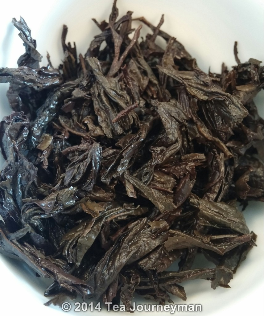 Rou Gui Wulong Tea Infused Leaves