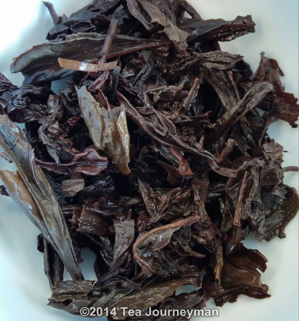 Ban Yan Da Hong Pao Wuyi Rock Oolong Tea Infused Leaves