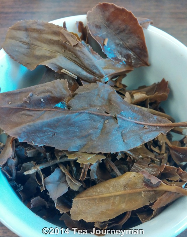 Mist Valley Nepal 2nd Flush 2014 Oolong Tea Infused Leaves Close Image