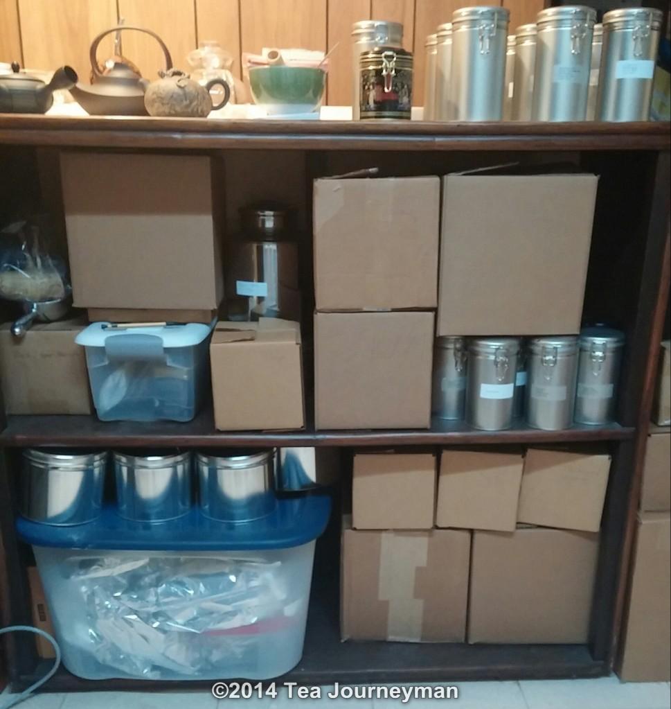 Organized Tea Samples