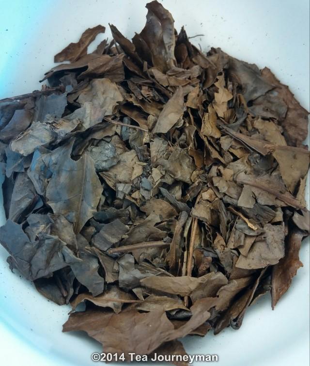 Obubu Kyobancha 2014 Roasted Green Tea Dry Leaves