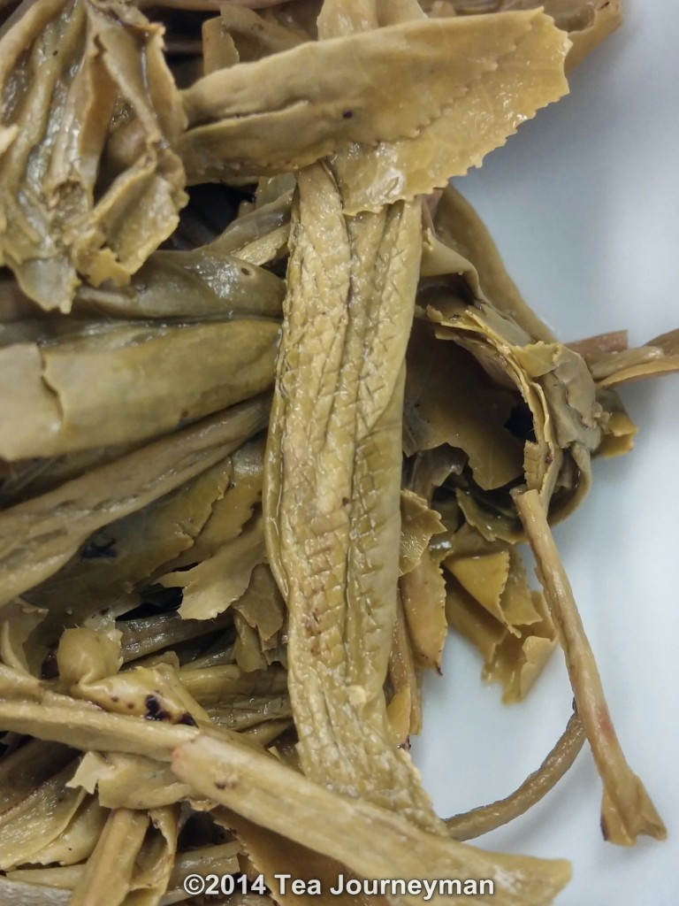 TeaVivre Nonpareil Cha Wang Tai Ping Hou Kui Green Tea Infused Leaves Texture