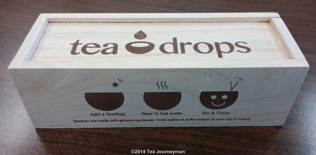 Tea Drops Wooden Retail Package (Front & Top)