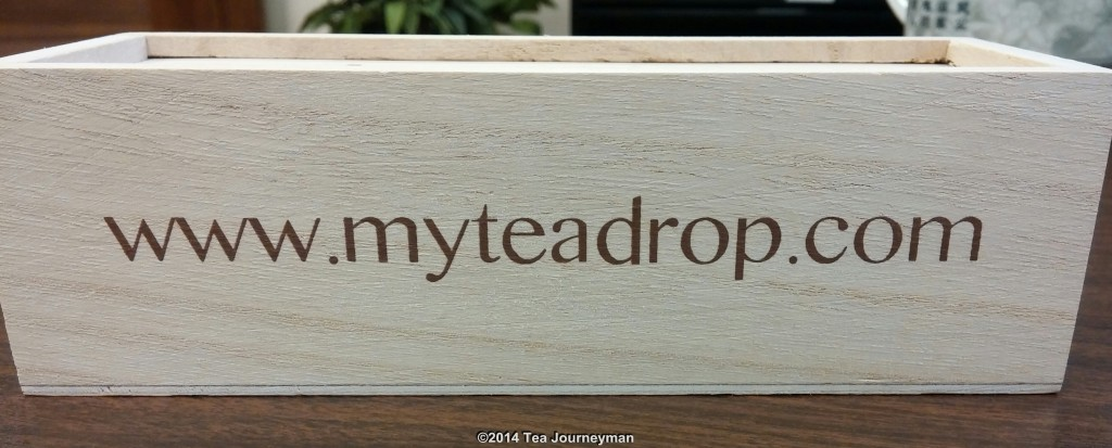 Tea Drops Wooden Retail Package (Back)