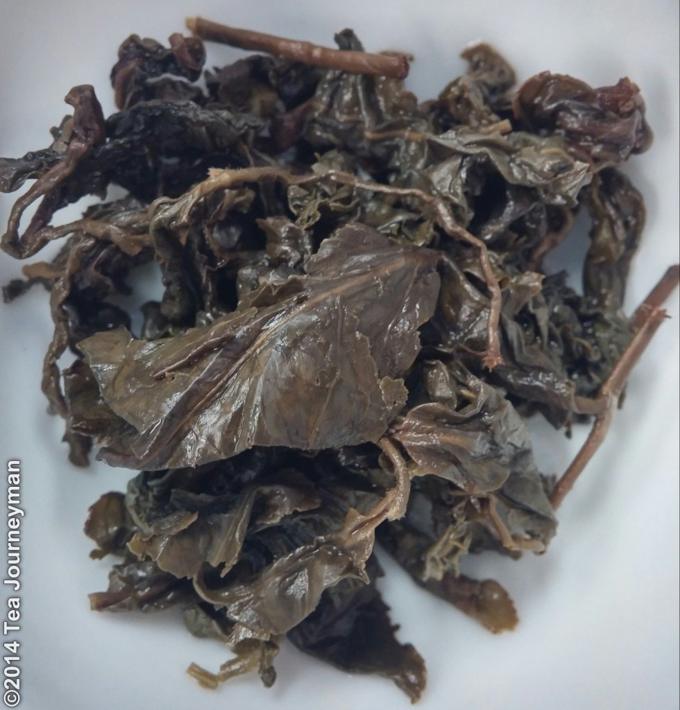 Medium Roast Dong Ding Oolong Tea Infused Leaves