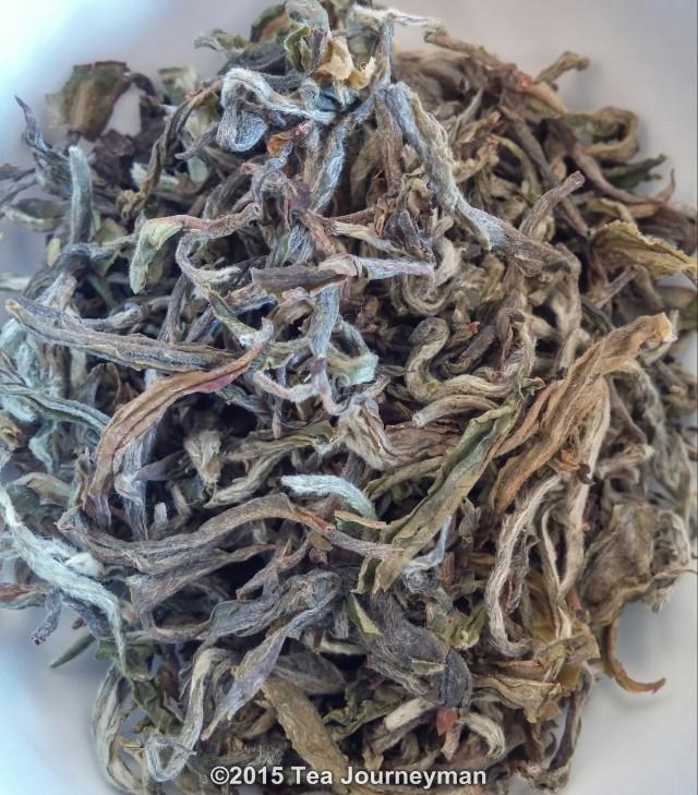 Greenland Organic Nepal 1st Flush 2014 Silver Oolong Tea Dry Leaves Close-Up