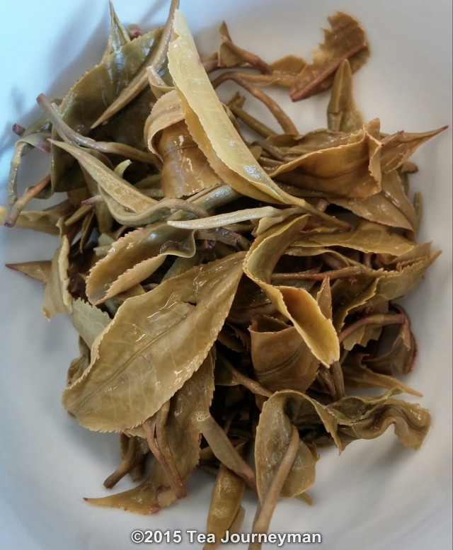 Greenland Organic Nepal 1st Flush 2014 Silver Oolong Tea Infused Leaves