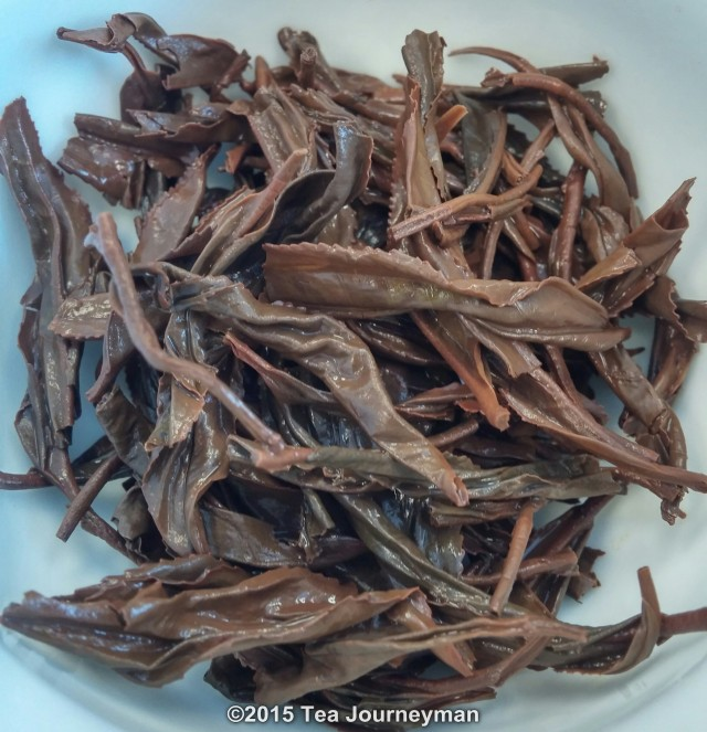 Georgia Nagobilevi Village Black Tea Infused Leaves