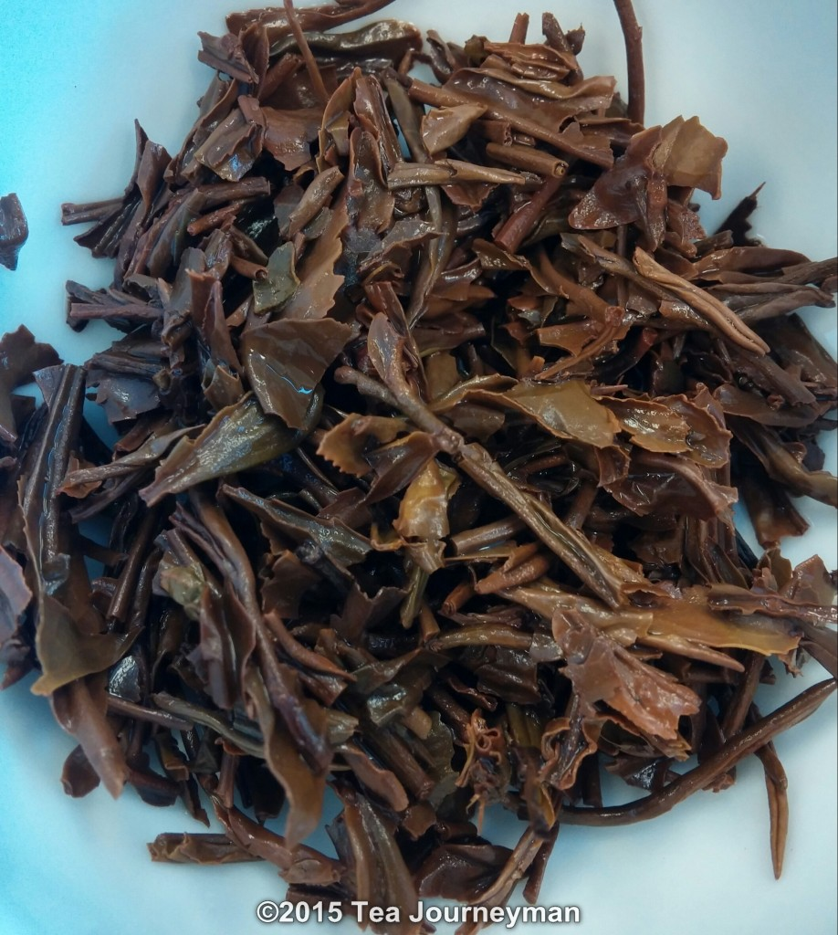 "Azores Shade-Grown Orange Pekoe ""Ponta Branca"" Black Tea Infused Leaves"
