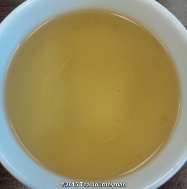Organic Tezumi Teira Kamairicha Kanayamidori Green Tea Liquor