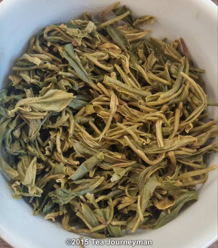 Organic Tezumi Teira Kamairicha Kanayamidori Green Tea Infused Leaves